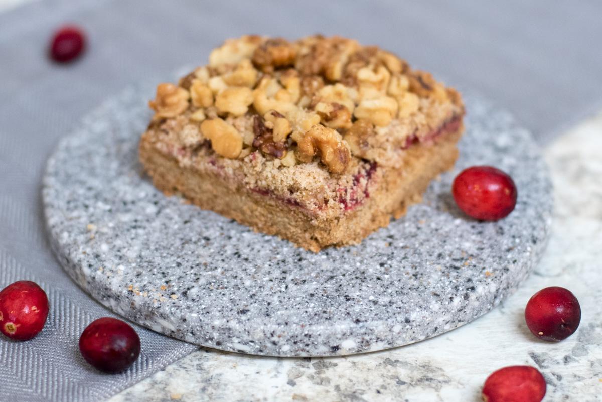 paleo cranberry coffee cake