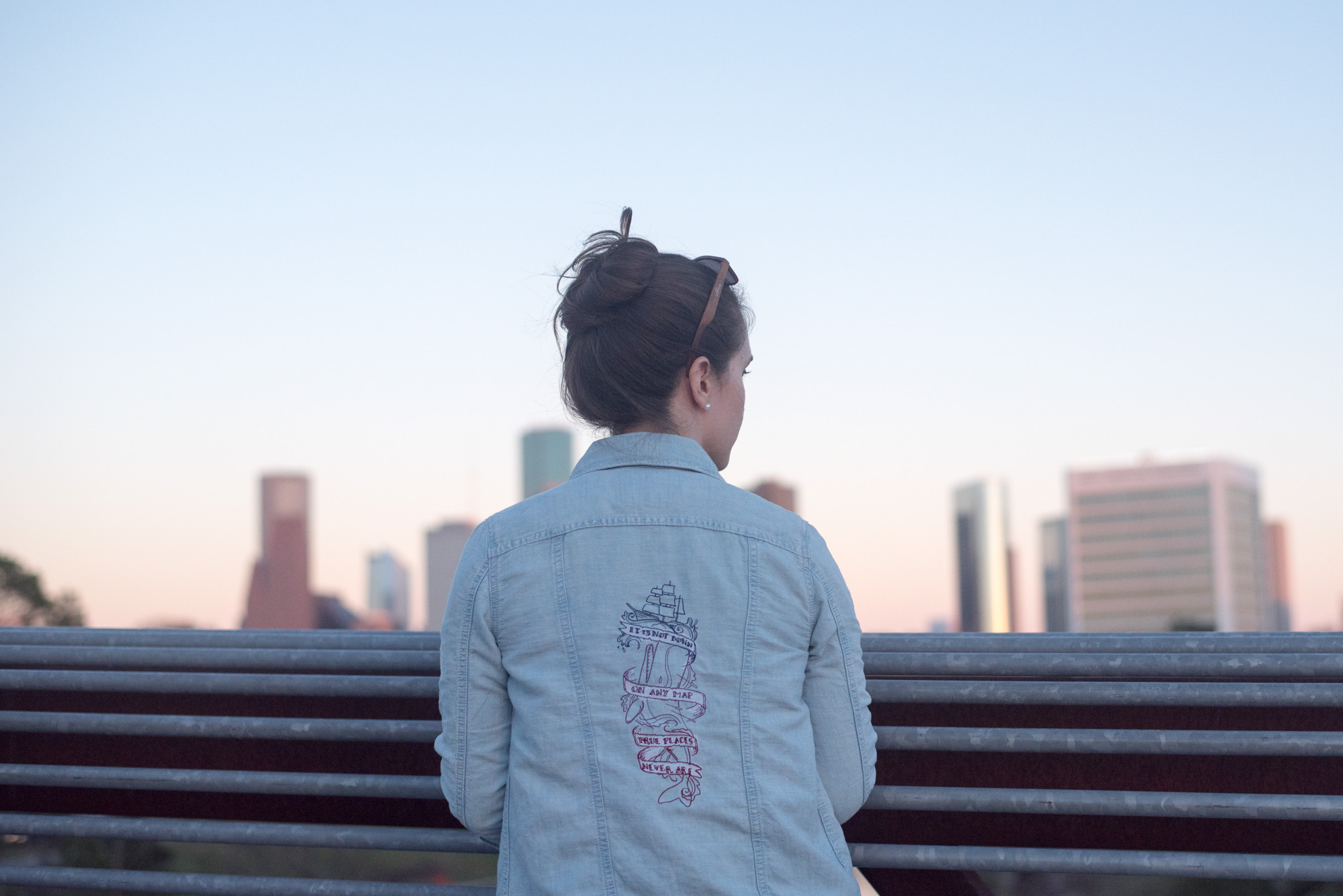 diy embroidered jean jacket